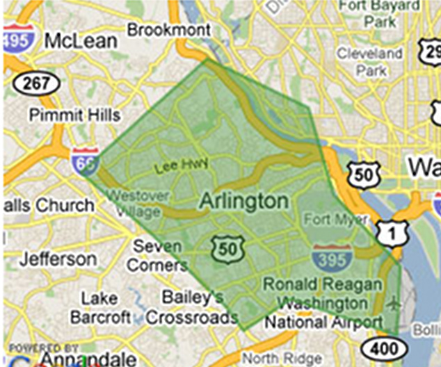 Ashton Virginia Map.Arlington County Virginia Homes For Sale And Real Estate June 2010